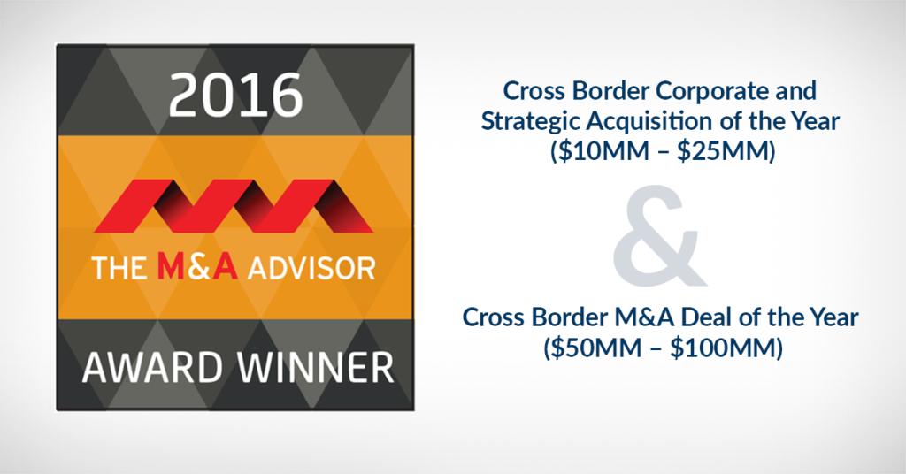 2016 M&A Advisor Awards